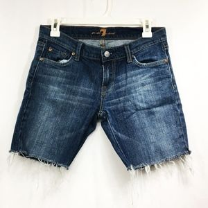 Women's 7 For All ManKind Jean Shorts Size 27